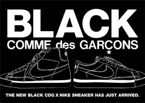 Black CDG nike blazer