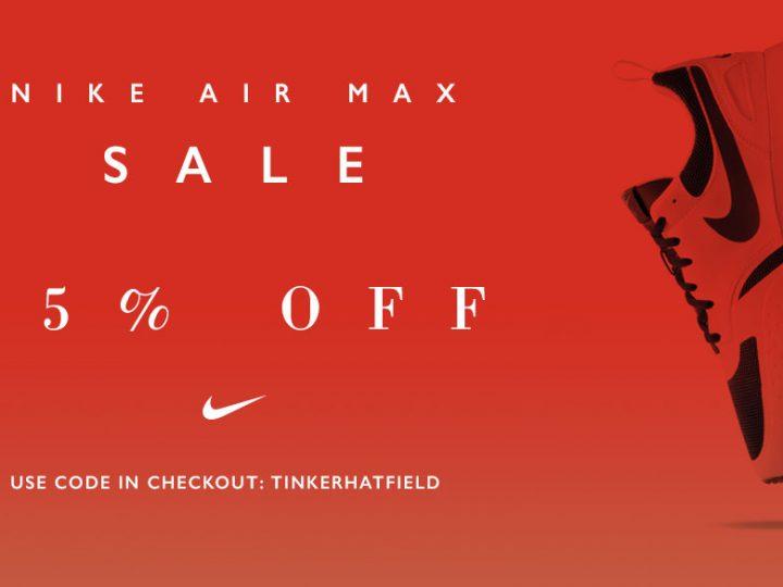 Codice Sconto del 25% su Inflammable.com su Nike Air Max
