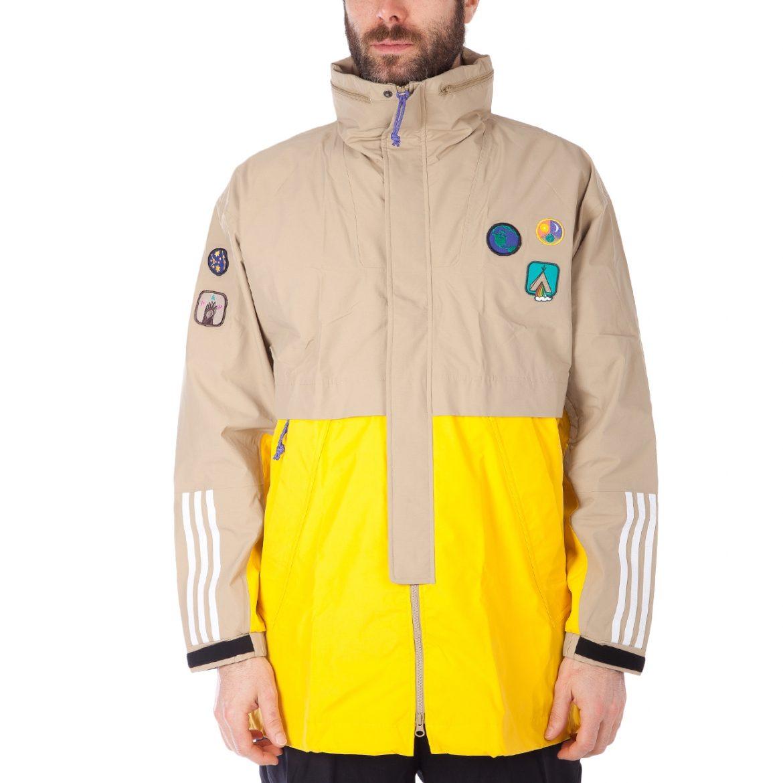 adidas x Pharrell Williams HU Hiking 3-Layer Jacket (Beige / EQT Gelb)
