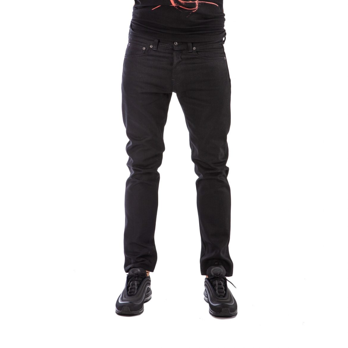 Edwin ED-80 Slim Tapered Red Listed Selvage Black Denim (Schwarz)